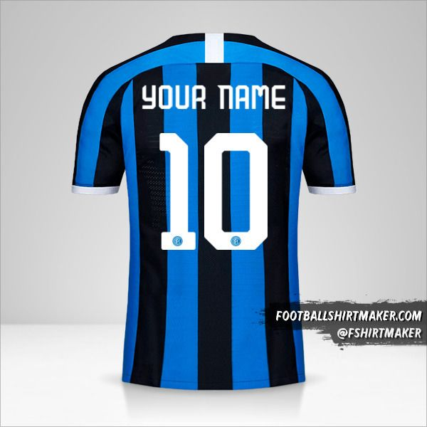 Inter 2019/20 Cup jersey number 10 your name
