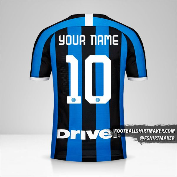 Inter jersey 2019/20 number 10 your name
