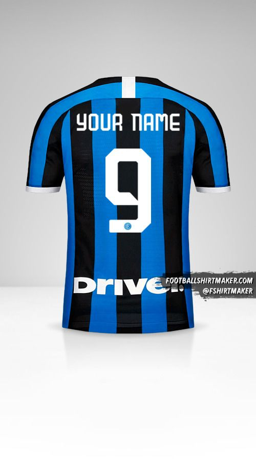 Inter 2019/20 jersey number 9 your name