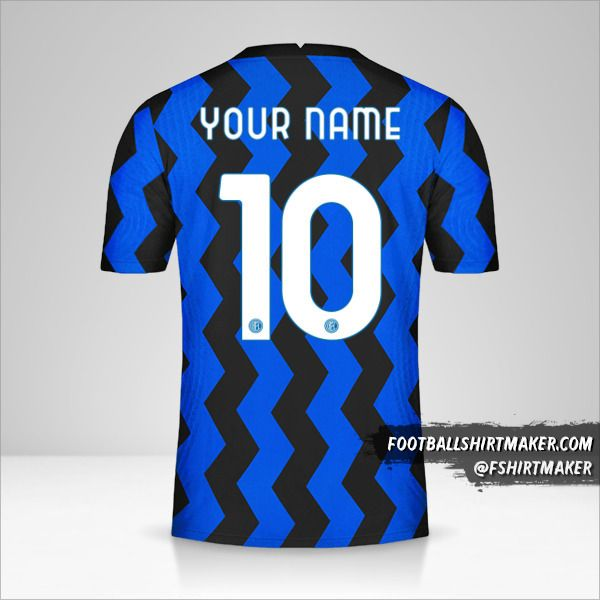 Inter 2020/21 Cup jersey number 10 your name