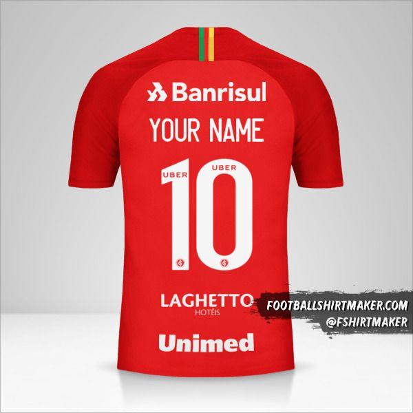 Internacional 2018/19 jersey number 10 your name
