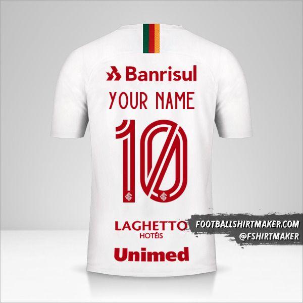 Internacional 2019/20 II jersey number 10 your name