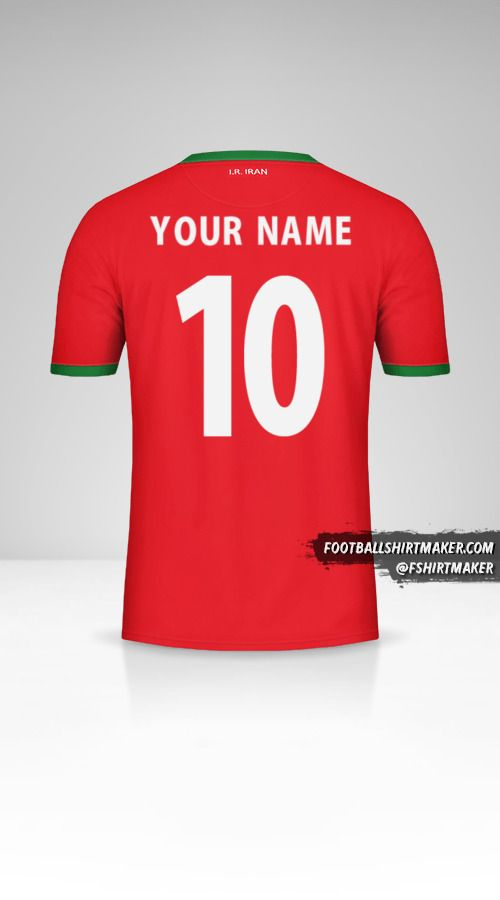 Iran 2014 II jersey number 10 your name