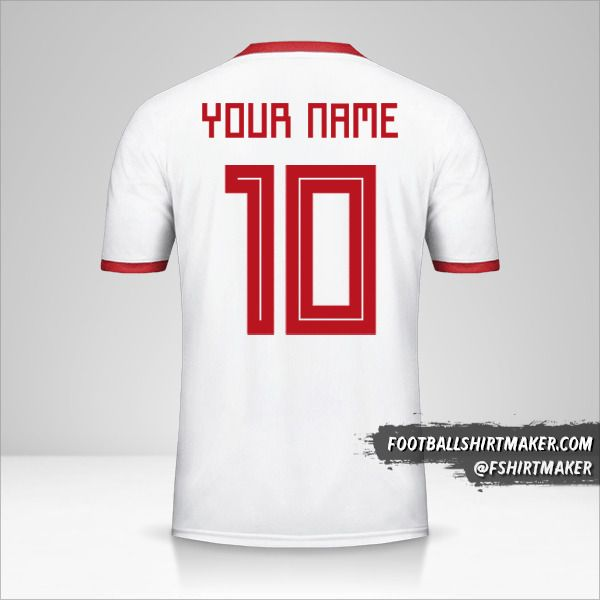 Iran 2018 jersey number 10 your name