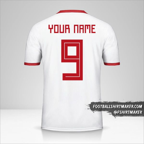 Iran jersey 2018 number 9 your name