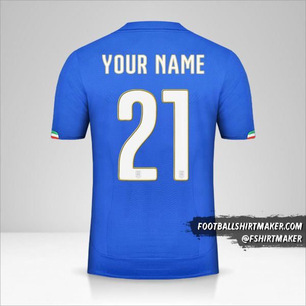 Italy 2014 jersey number 21 your name