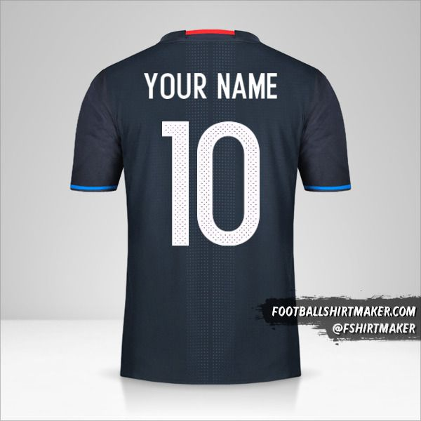 Japan 2016 jersey number 10 your name