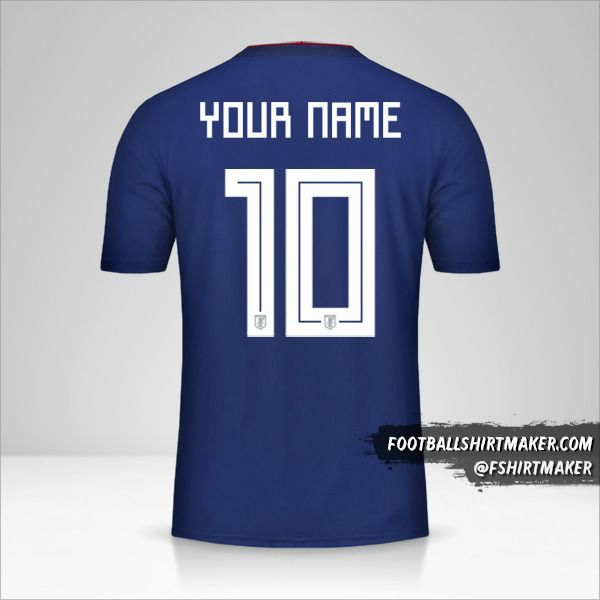 Japan 2018 jersey number 10 your name