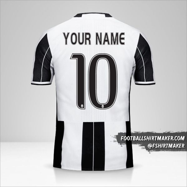 Juventus FC 2016/17 jersey number 10 your name