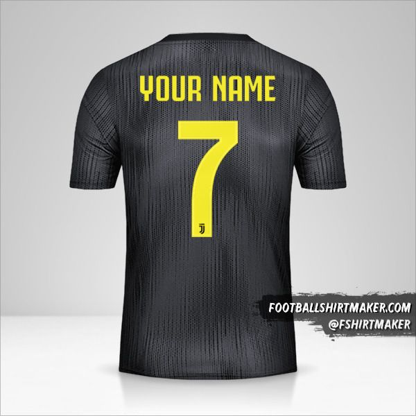 Juventus FC 2018/19 III Cup jersey number 7 your name
