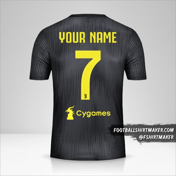 Juventus FC 2018/19 III jersey number 7 your name
