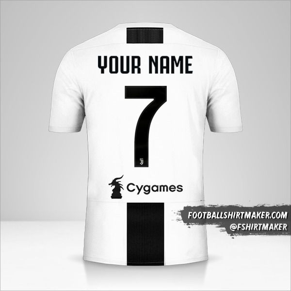 Juventus FC 2018/19 jersey number 7 your name