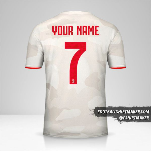 Juventus FC 2019/20 Cup II jersey number 7 your name