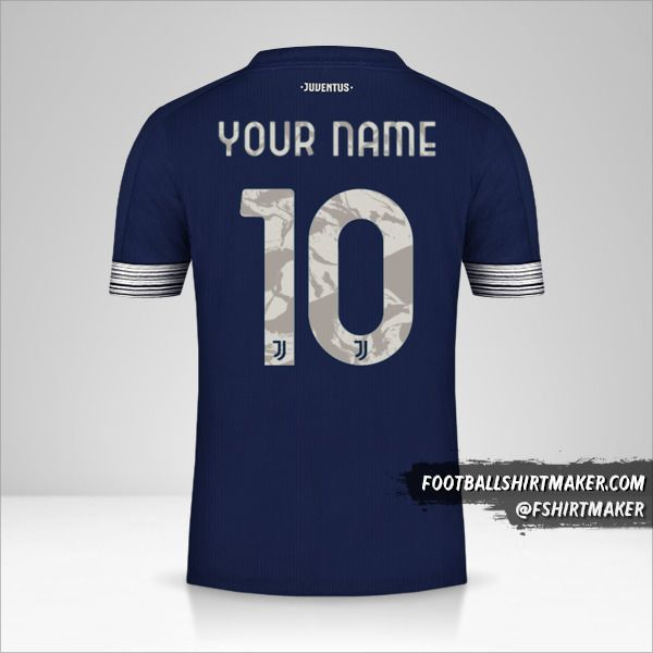 Juventus FC 2020/21 Cup II jersey number 10 your name