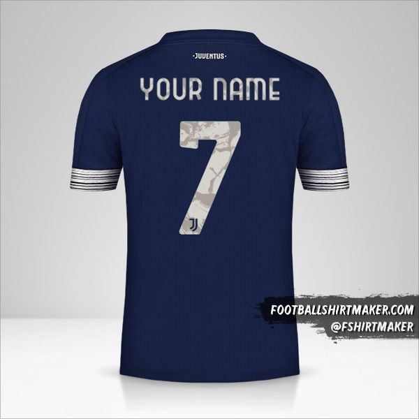 Juventus FC 2020/21 Cup II jersey number 7 your name