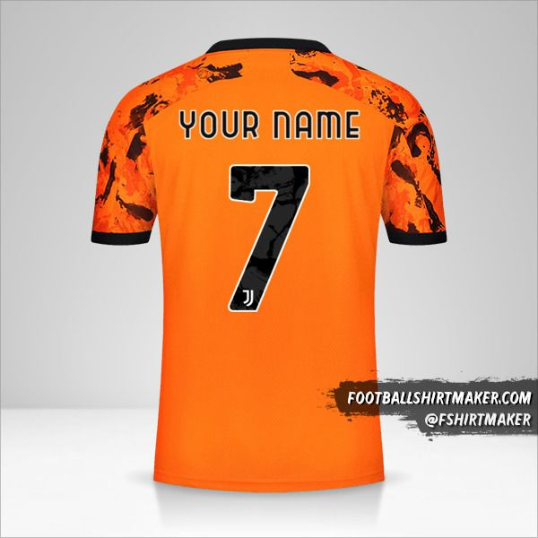 Juventus FC 2020/21 Cup III jersey number 7 your name