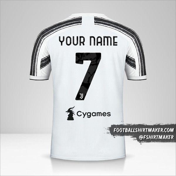 Juventus FC 2020/21 jersey number 7 your name