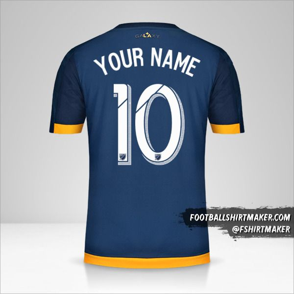 LA Galaxy 2015/16 II jersey number 10 your name