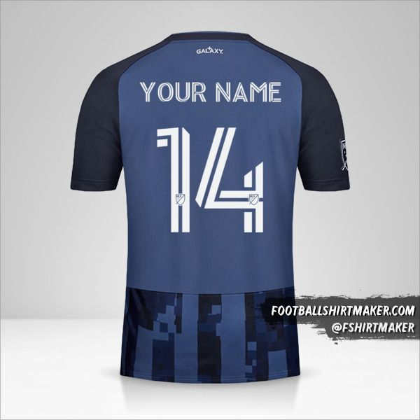 LA Galaxy 2020 II jersey number 14 your name
