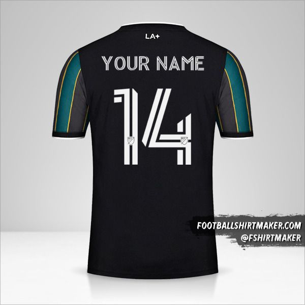 LA Galaxy 2021 II jersey number 14 your name