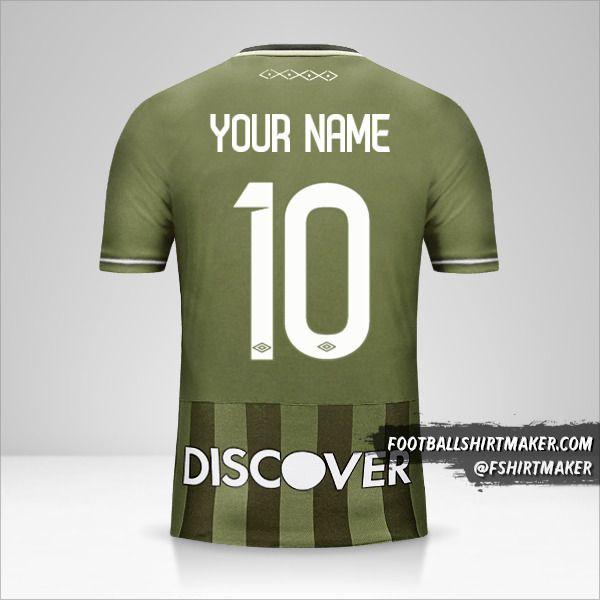 Liga de Quito 2017 II jersey number 10 your name