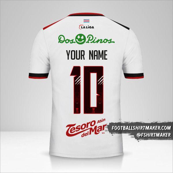 Liga Deportiva Alajuelense 2018 II jersey number 10 your name