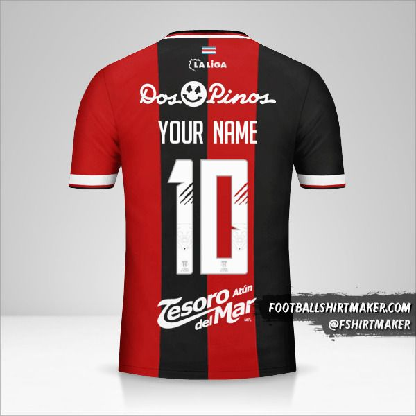Liga Deportiva Alajuelense jersey 2018 number 10 your name