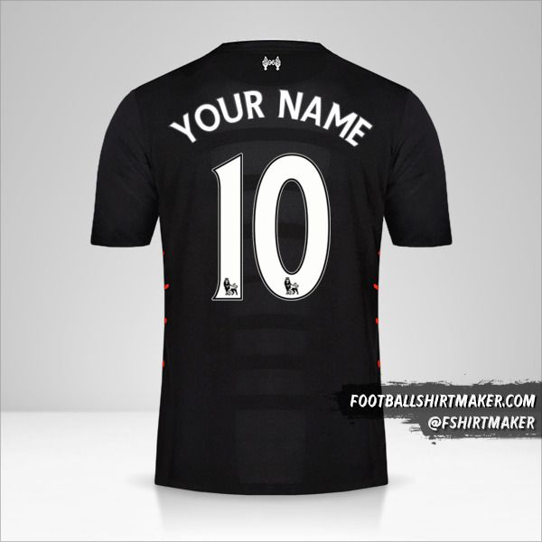 Liverpool FC 2016/17 II jersey number 10 your name