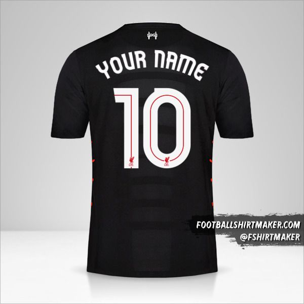 Liverpool FC 2016/17 Cup II jersey number 10 your name