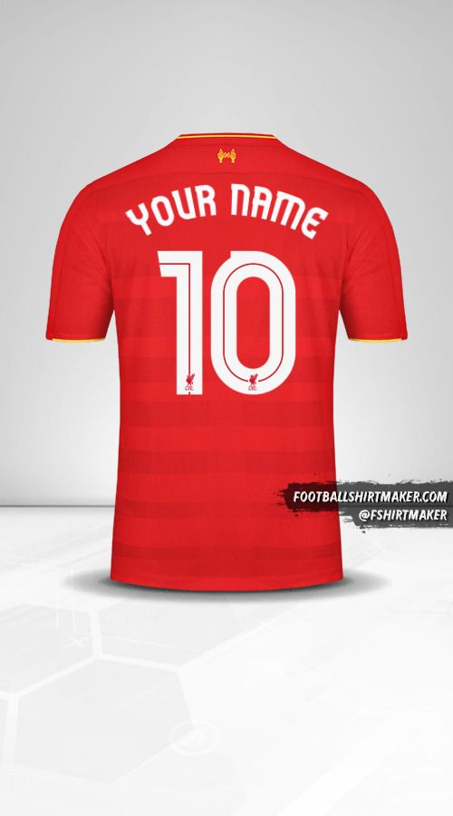 Liverpool FC 2016/17 Cup jersey number 10 your name