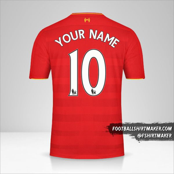 Liverpool FC 2016/17 jersey number 10 your name