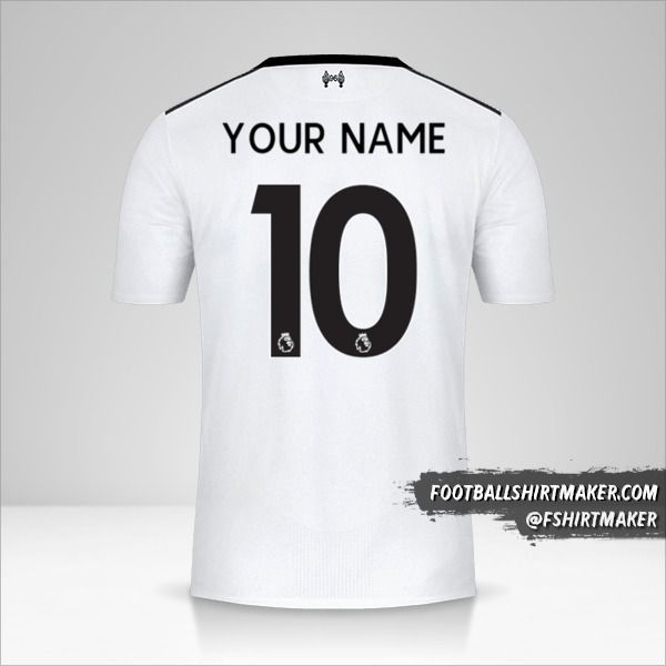 Liverpool FC 2017/18 II jersey number 10 your name