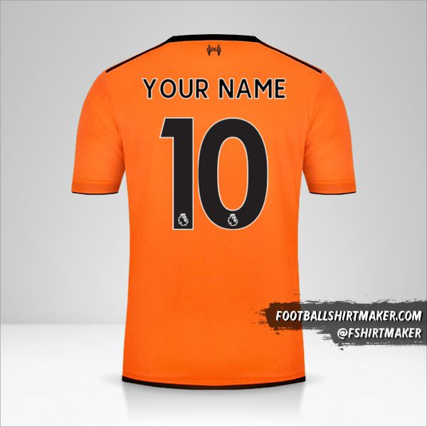 Liverpool FC 2017/18 III jersey number 10 your name