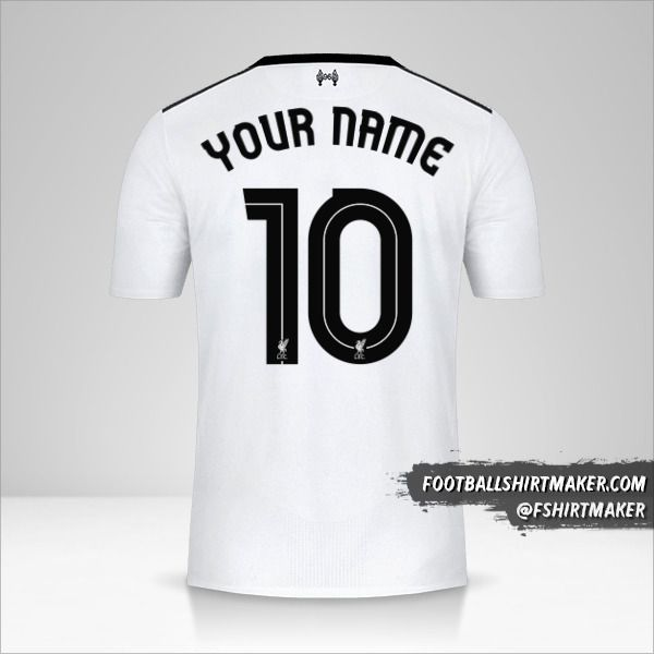 Liverpool FC 2017/18 Cup II jersey number 10 your name