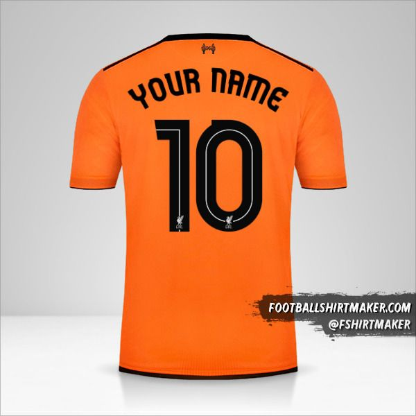 Liverpool FC 2017/18 Cup III jersey number 10 your name