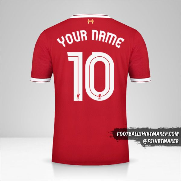 Liverpool FC 2017/18 Cup jersey number 10 your name