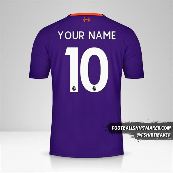 Liverpool FC 2018/19 II jersey number 10 your name