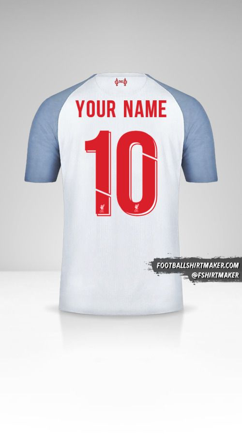 Liverpool FC 2018/19 Cup III jersey number 10 your name