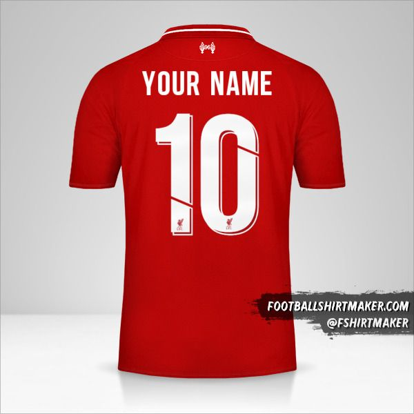Liverpool FC 2018/19 Cup jersey number 10 your name