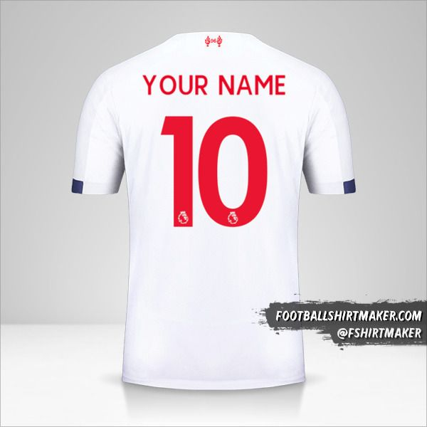 Liverpool FC 2019/20 II jersey number 10 your name