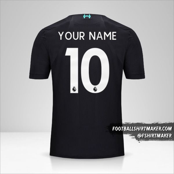 Liverpool FC 2019/20 III jersey number 10 your name