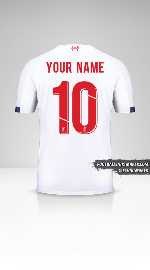 Liverpool FC 2019/20 Cup II jersey number 10 your name