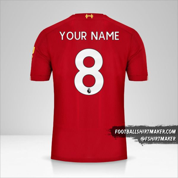 Liverpool FC jersey 2019/20 number 8 your name