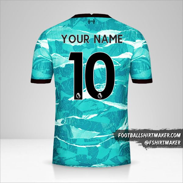 Liverpool FC 2020/21 II jersey number 10 your name