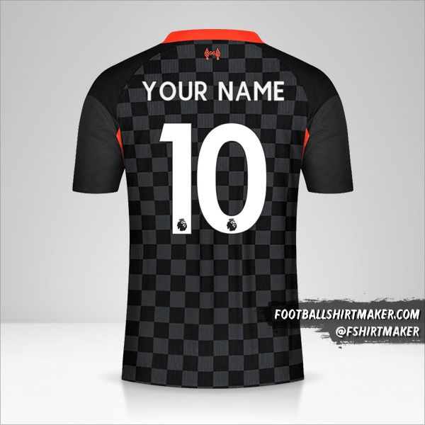 Liverpool FC 2020/21 III jersey number 10 your name