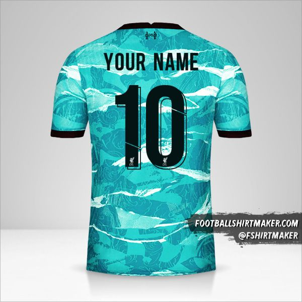 Liverpool FC 2020/21 Cup II jersey number 10 your name