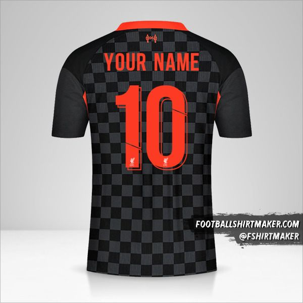 Liverpool FC 2020/21 Cup III jersey number 10 your name