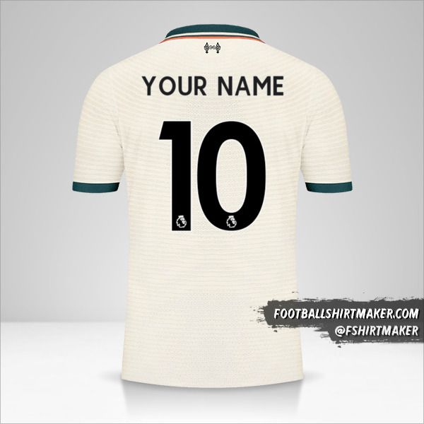 Liverpool FC 2021/2022 II jersey number 10 your name