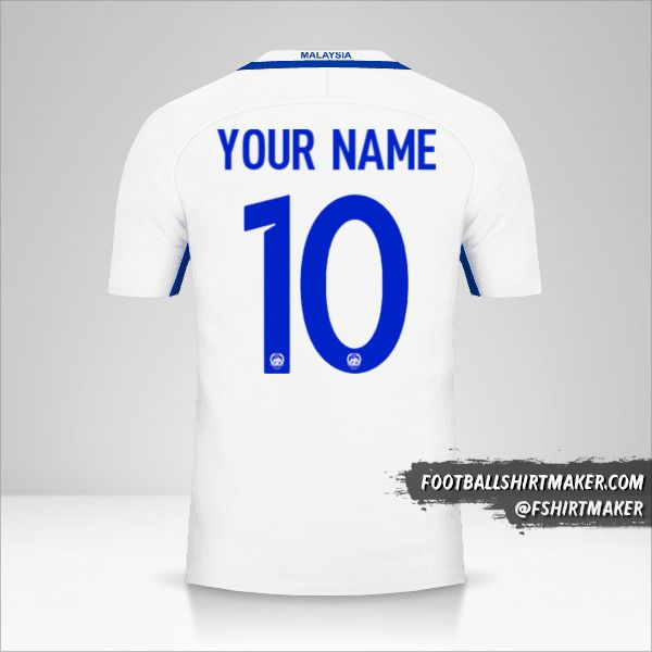 Malaysia 2016/17 II jersey number 10 your name