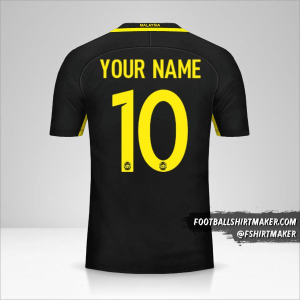 Malaysia 2016/17 jersey number 10 your name